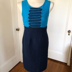 Merona Blue Sleeveless Linen Dress Size 4